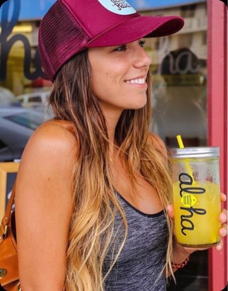Customer Enjoying Wow Wow Lemonade