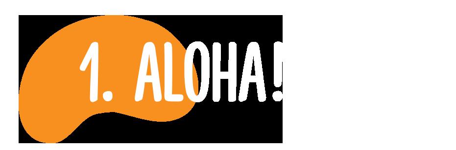 1. Aloha!
