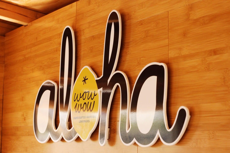 """Wow Wow """"Aloha"""" signage"""